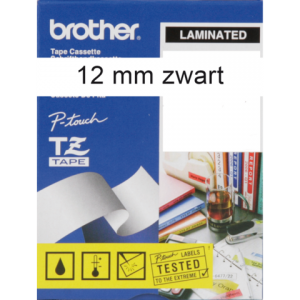 TZE-231 - Brother Lettertape P-Touch 12mm 8m Wit Zwart TZE-231