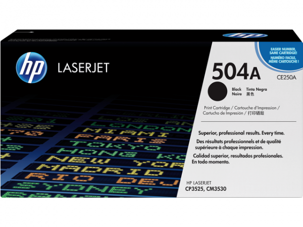 CE250A - HP Toner Cartridge 504A Black 5.000vel