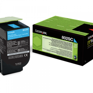 80C2SC0 - LEXMARK Toner Cartridge Cyaan 2.000vel 1st