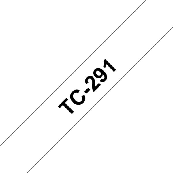 TC-291 - Brother Lettertape P-Touch 9mm 7.7m Wit Zwart