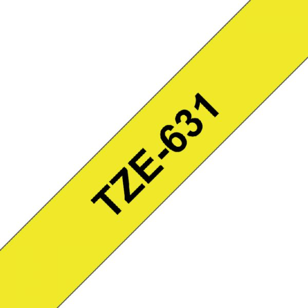TZE-631 - Brother Lettertape P-Touch 12mm 8m Geel Zwart