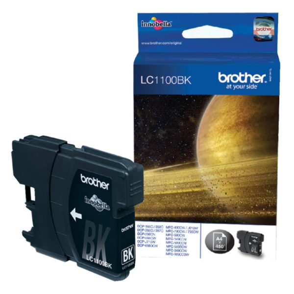 LC-1100BK - Brother Inkt Cartridge Black 6,5ml 1st