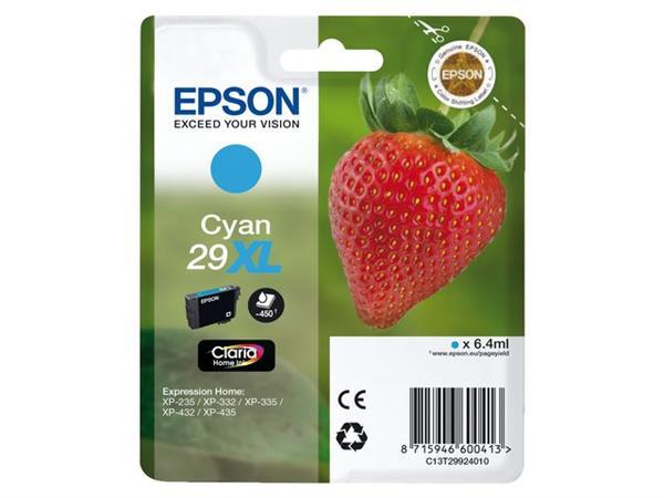C13T29924010 - EPSON Inkt Cartridge Cyaan 6.4ml 1st