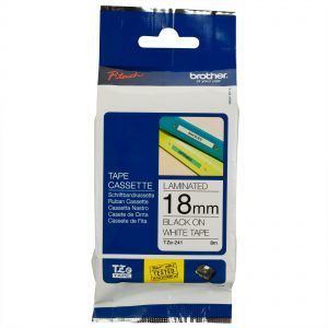 TZE-241 - Brother Lettertape P-Touch 18mm 8m Wit Zwart Polyester