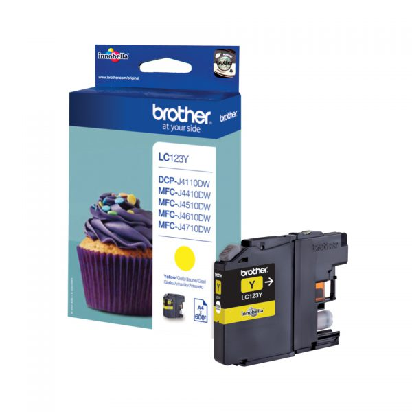 LC-123Y - Brother Inkt Cartridge Yellow 6,6ml