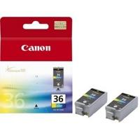 1511B018 - CANON Inkt Cartridge CLI-36 Black & Cyaan & Magenta & Yellow 12ml 2st