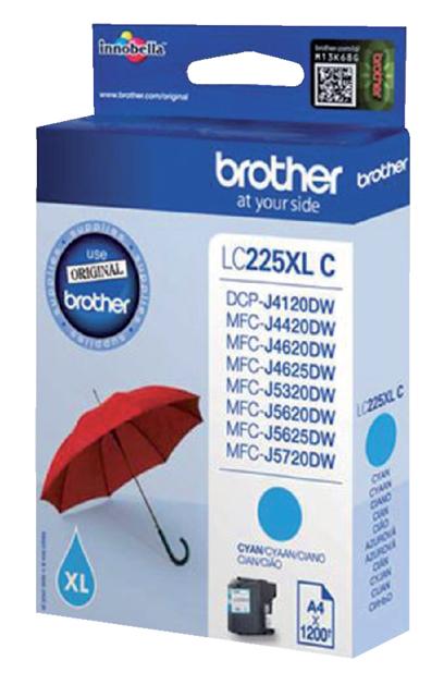 LC-225XLC - Brother Inkt Cartridge LC-225XLC Cyaan 1.200vel