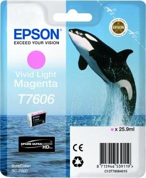 C13T76064010 - EPSON Inkt Cartridge T7606 Light Magenta 25,9ml