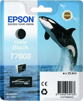 C13T76084010 - EPSON Inkt Cartridge T7608 Black 25,9ml