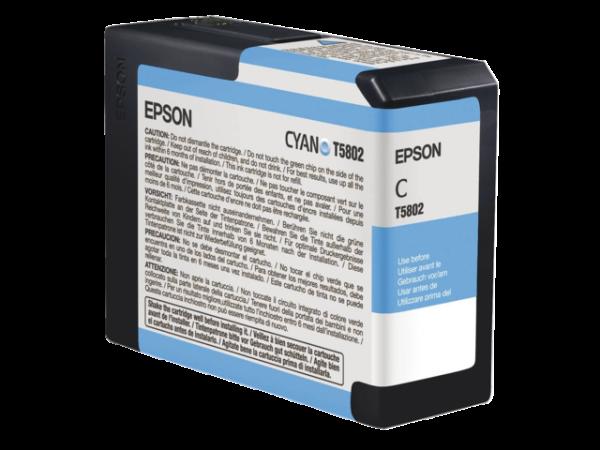 C13T580200 - EPSON Inkt Cartridge T5802 Cyaan 80ml 1st