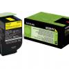 80C2HY0 - LEXMARK Toner Cartridge Yellow 3.000vel 1st