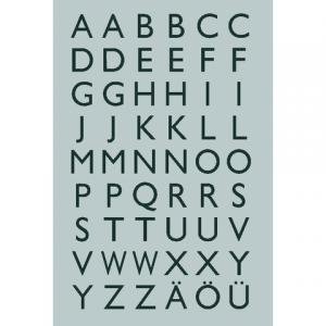 4133 - HERMA Speciaal Etiket Folie Letters A-Z no:4133 13x12mm Zilver 1 Pak