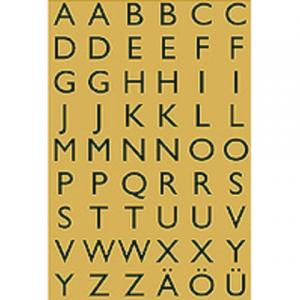 4145 - HERMA Speciaal Etiket Folie Letters A-Z no:4145 13x12mm Goud 1 Pak