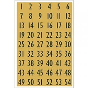 4146 - HERMA Speciaal Etiket Folie Getal no:4146 13x12mm Goud 1 Pak