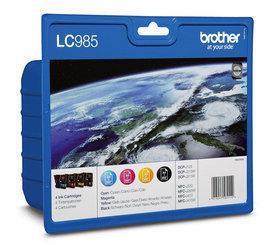 LC-985VALBP - Brother Inkt Cartridge Black & Cyaan & Magenta & Yellow 39ml Multipack