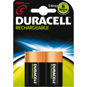 HR14 - DURACELL Batterij Oplaadbaar 2200mAh Supreme HR14C 1.2V Nikkel–Metaal Hydride