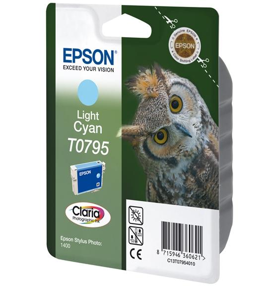 C13T07954010 - EPSON Inkt Cartridge T0795 Light Cyaan 11ml 1st