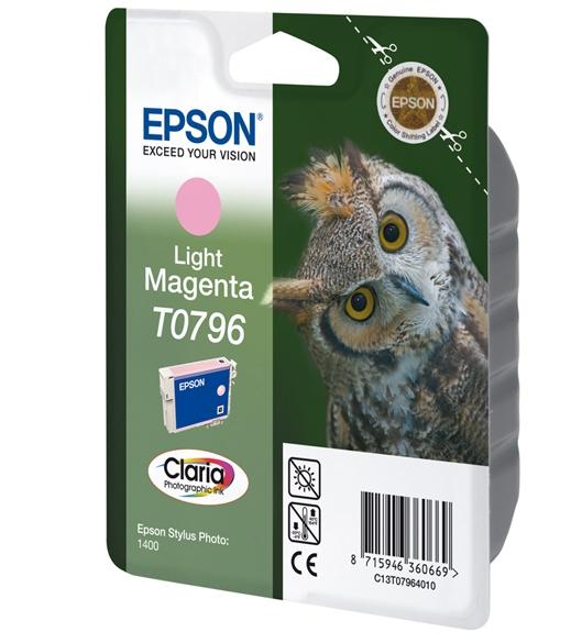 C13T07964010 - EPSON Inkt Cartridge T0796 Light Magenta 11ml 1st