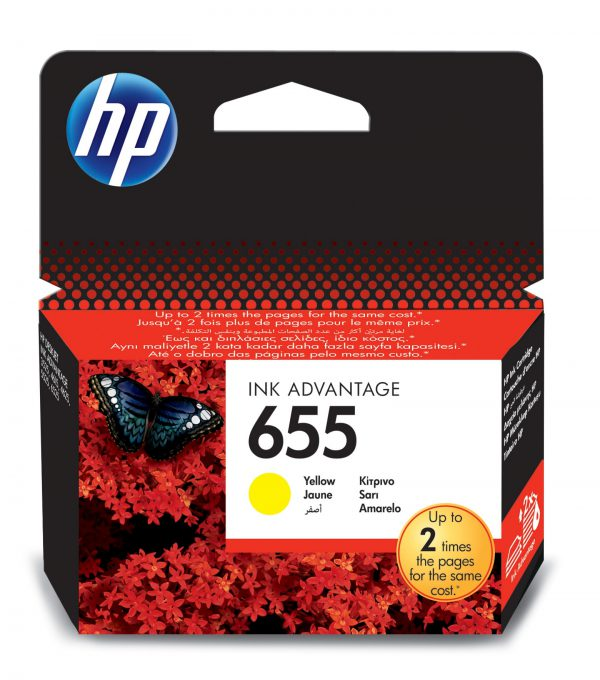 CZ112AE - HP Inkt Cartridge 655 Yellow 600vel 1st