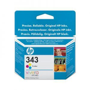 C8766EE - HP Inkt Cartridge 343 Cyaan & Magenta & Yellow 7ml