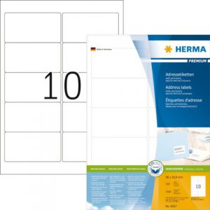 4667 - HERMA Adres Etiket Premium 96x50.8mm 1.000st Wit 1 Pak