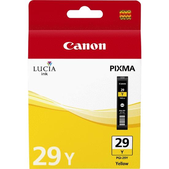 4875B001 - CANON Inkt Cartridge PGI-29Y Yellow 1420vel