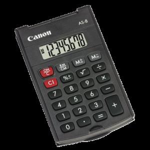 4598B001 - CANON Zakcalculator AS-8 8-Cijfers Grijs