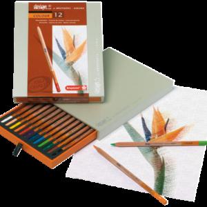 8805H12 - BRUYNZEEL Kleurpotlood Design Diverse Kleuren 12st