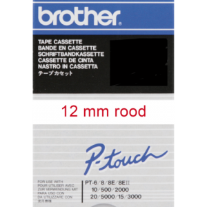 TC-202 - Brother Lettertape P-Touch 12mm 7.7m Wit Rood