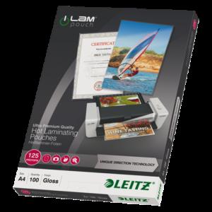 74810000 - LEITZ Lamineerhoes 125mcr iLam A4 Hoogglans 1 Pak