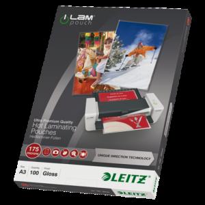 74900000 - LEITZ Lamineerhoes 175mcr iLam A3 Hoogglans 1 Pak