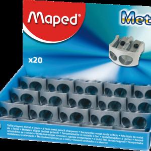 M506700 - MAPED Puntenslijper 2-Gaats Zilver 1st