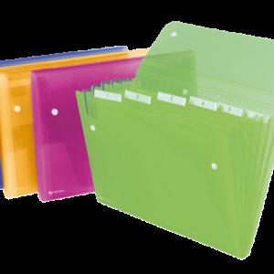 2102032 - REXEL Sorteermap Ice 6-Tabs Diverse Kleuren