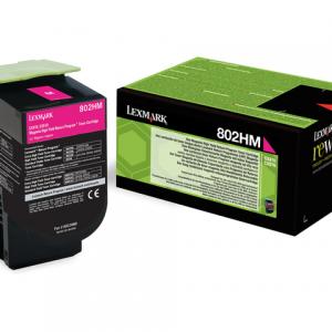 80C2HM0 - LEXMARK Toner Cartridge Magenta 3.000vel 1st