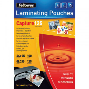 5306702 - FELLOWES Lamineerhoes 125mcr Premium 65x95mm Glashelder 100vel