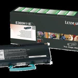 E360H11E - LEXMARK Toner Cartridge Black 9.000vel 1st