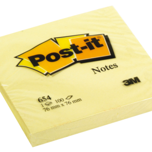 654YEL - 3M Post-It Memoblok 76x76mm Geel 1st