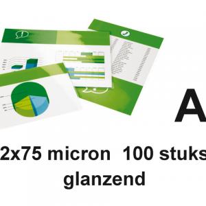 535944 - Quantore Lamineerhoes 2x75mcr Premium A4 Glashelder 1 Pak