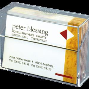 VA110 - SIGEL Visitekaartbox Voor Visitekaart 85x56x27mm Transparant 1st