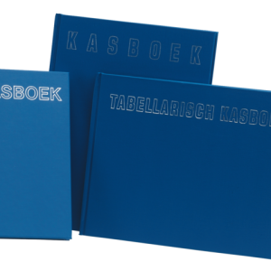 050210 - Office Kasboek 2-Kolom 205x165mm Blauw 96vel