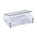 VA112 - SIGEL Visitekaartbox Transparant 1st