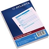 A5406034 - ATLANTA Kasboek A6 Blauw 100vel