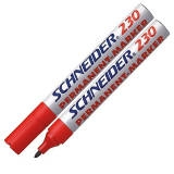 123002 - SCHNEIDER Viltstift Permanent 230 1-3mm Rood 1st