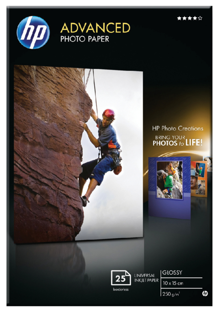 Q8691A - HP Fotopapier Advanced Snapshot 10x15cm 250g/m² Gloss 25vel