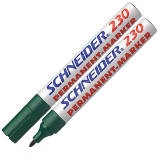 123004 - SCHNEIDER Viltstift Permanent 230 1-3mm Groen 1st
