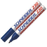 123003 - SCHNEIDER Viltstift Permanent 230 1-3mm Blauw 1st