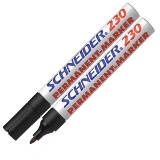 123001 - SCHNEIDER Viltstift Permanent 230 1-3mm Zwart 1st
