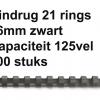 5347305 - FELLOWES Bindrug Comb Kunststof A4 21-Rings 16mm Zwart 100st