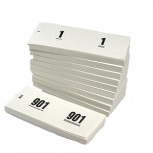 V.CLO.1060-W - Office Nummerblok Wit 42x105mm
