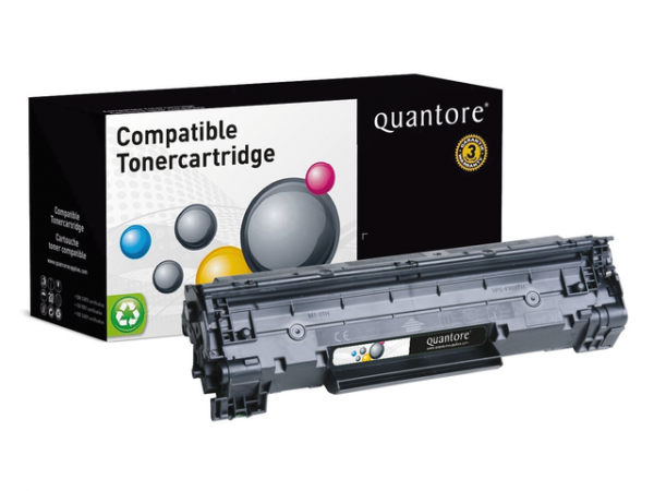 CE285X-Q - Quantore Toner Cartridge 85A Black 3.200vel 1st
